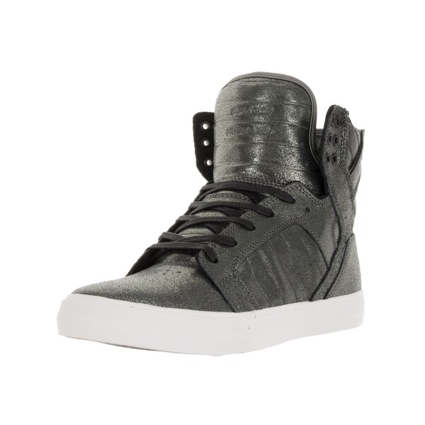 Supra Men's Skytop Pewter Metalic/White Skate Shoe