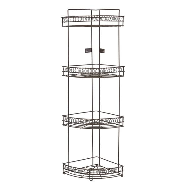 Bath Bliss 4 Tier Corner Rack In Curls Design