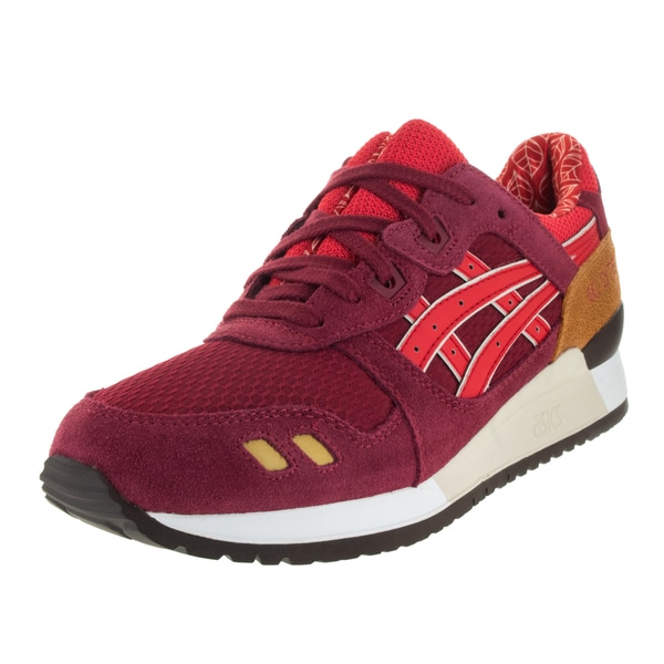 Asics Men's Gel-Lyte Iii Burgundy/Fiery Red Running Shoe