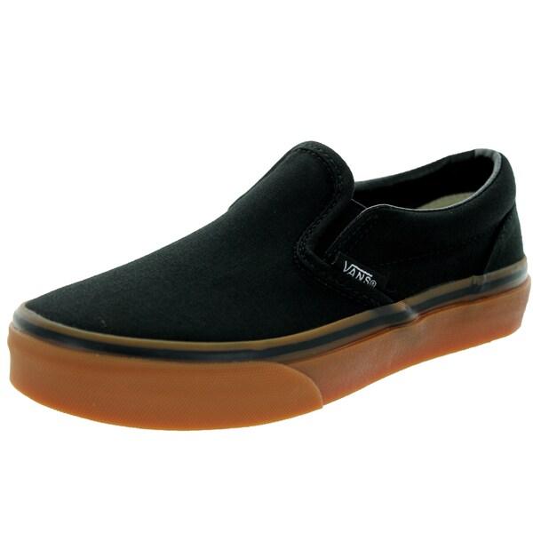 Vans Kid's Classic Slip-On (Gumsole) Black/Classic Gum Skate Shoe
