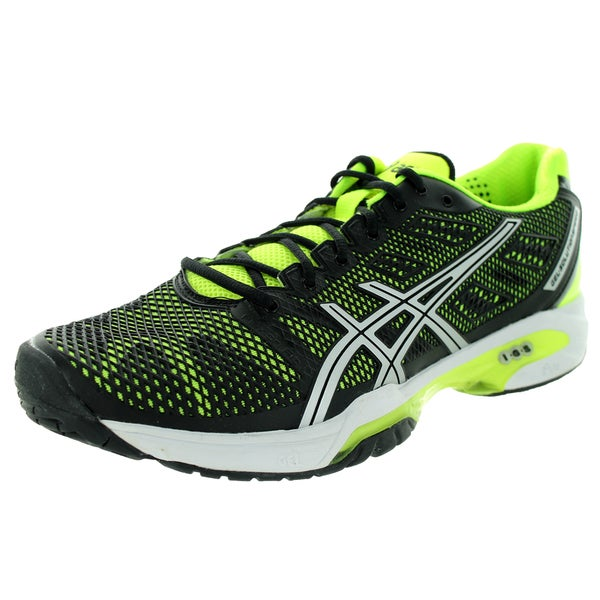 Asics Men's Gel-Solution Speed 2 Onyx/Flash Yellowver Tennis Shoe