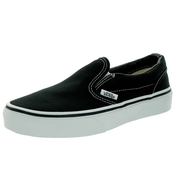 Vans Kid's Classic Slip-On Black/True White Skate Shoe