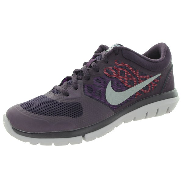 Nike Women's Flex 2015 Flash Nbl Purple/Metallic Silver/Vvd Purple/H Running Shoe