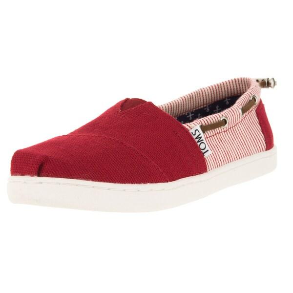 Toms Kid's Bimini Red/Stripes Casual Shoe