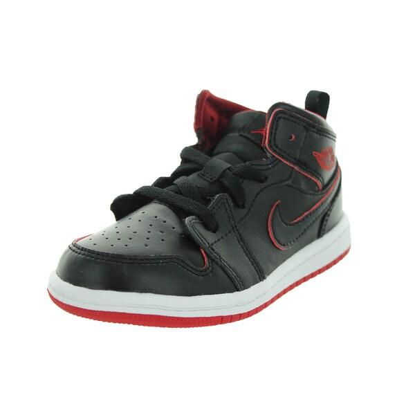 Jordan Toddler Black/Black/White/Gym Red Basketball Shoes