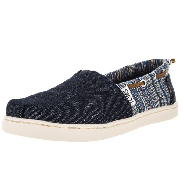 Toms Kid's Bimini Blue Denim Casual Shoe