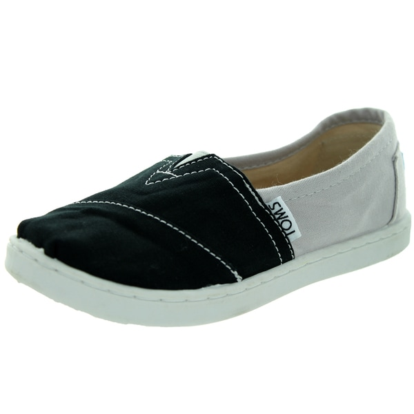 Toms Kid's Classic Grey Canvas Color Block Casual Shoe