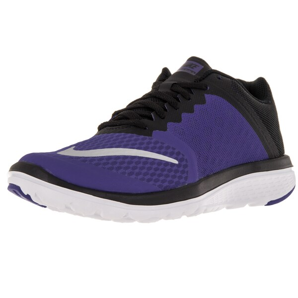 Nike Women's Fs Lite Run 3 Metallic Silver/ Black/ White Running Shoe
