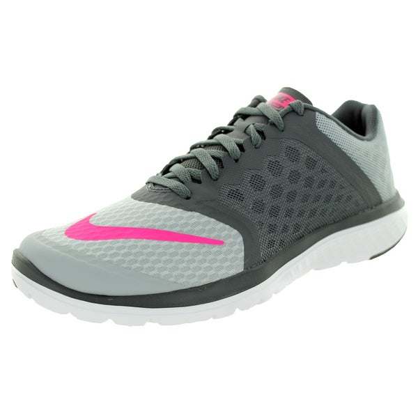 Nike Women's Fs Lite Run 3 Wlf /Pink/Dark Grey/White Running Shoe
