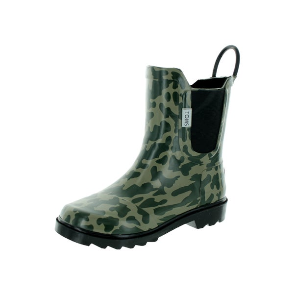 Toms Kid's Green Rain Boot