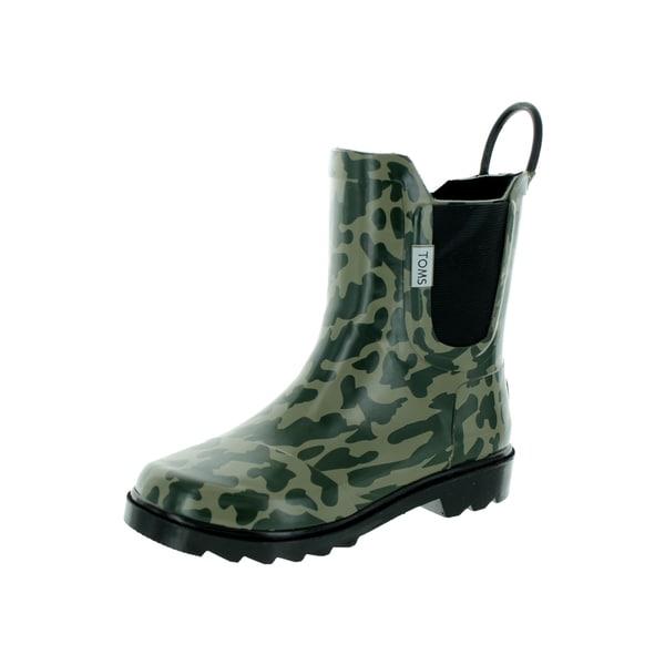 Toms Kid's Green Rain Boot