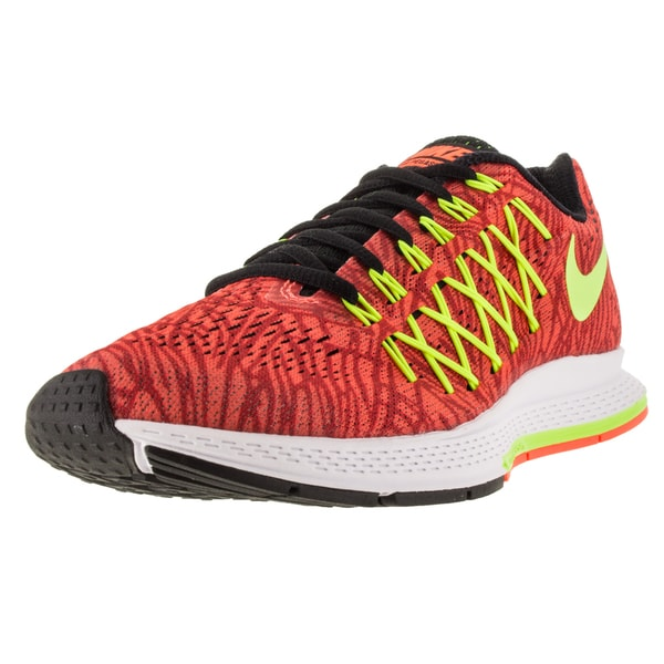 Nike Women's Air Zoom Pegasus 32 Print Hyper Orange/Volt/University Red Running Shoe