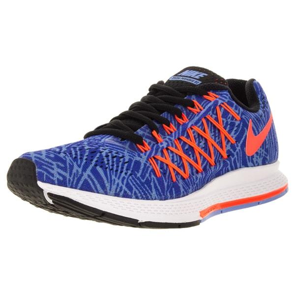 Nike Women's Air Zoom Pegasus 32 Print Racer/Blue/ Orange/Chalk Blue Running Shoe
