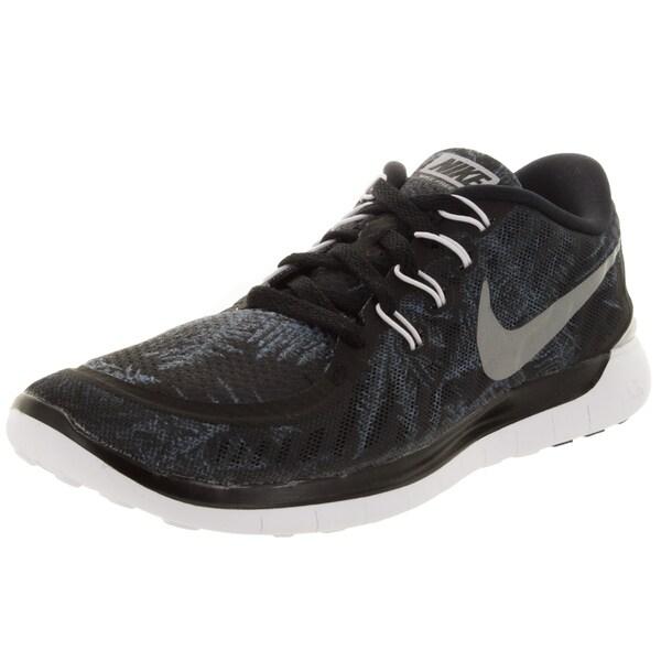 Nike Women's Free 5.0 Solstice Black/Rflct Slvr/Pr P Crystal Running Shoe