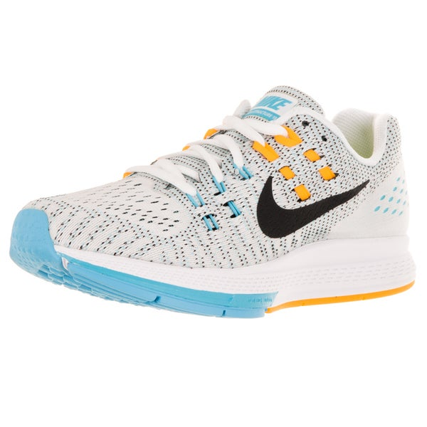 Nike Women's Air Zoom Structure 19 White/Black/Lsr Orange/Gmm Bl Running Shoe