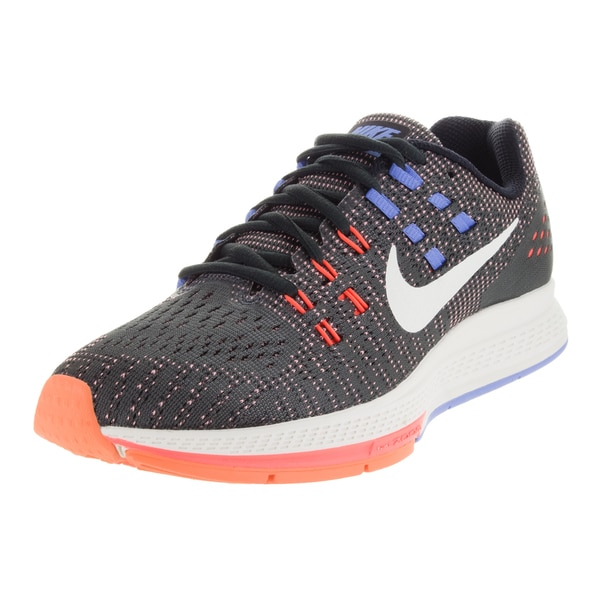 Nike Women's Air Zoom Structure 19 Anthracite/ Orange/Chalk Blue Running Shoe