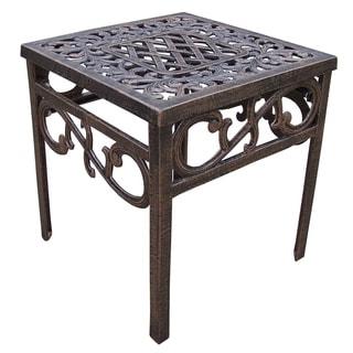 Explorer Cast Aluminum Square Side Table