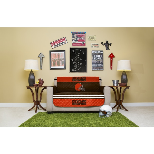 Cleveland Browns Officially Licensed Polyester Love Seat Protector