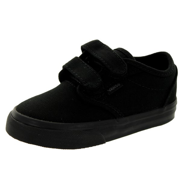 Vans Toddler's Atwood V Black Canvas Skate Shoes