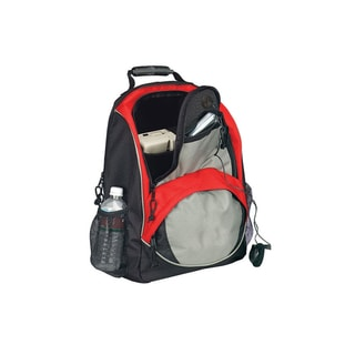 Goodhope Grey/Red 15-inch Laptop Backpack