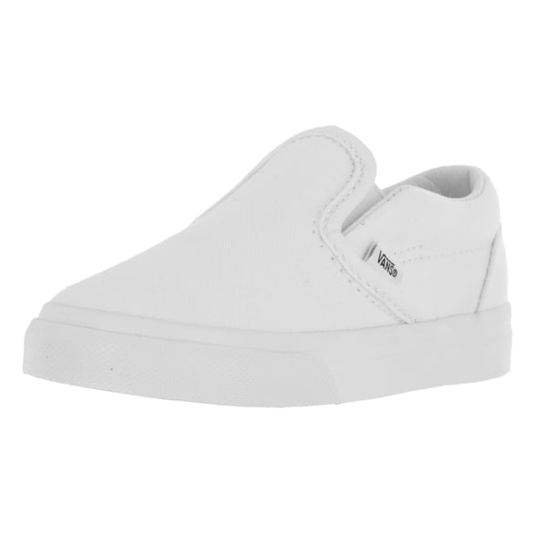 Vans Toddlers' True White Canvas Classic Slip-on Skate Shoes