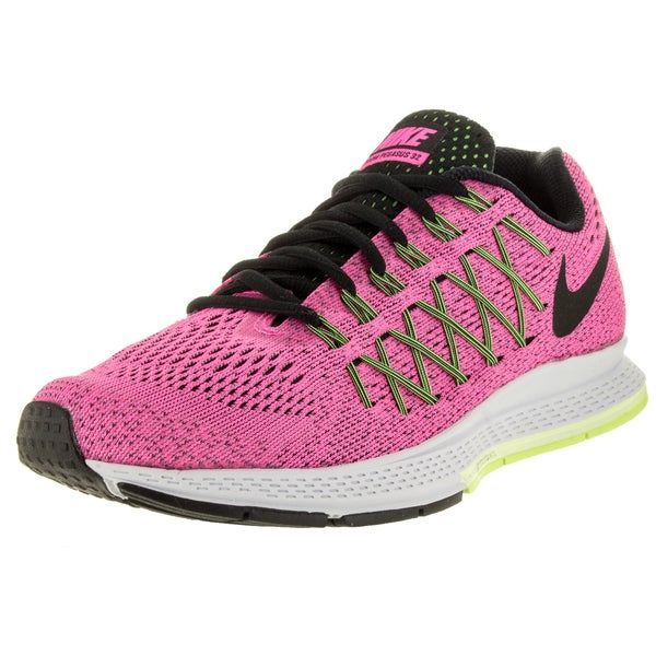 Nike Women's Air Zoom Pegasus 32 (W) Pink Pow/Black/Brly Green Running Shoe