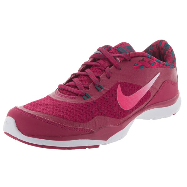 Nike Women's Flex Trainer 5 Print Sport Fuchsia/White/Vvd Pink Training Shoe 19835651