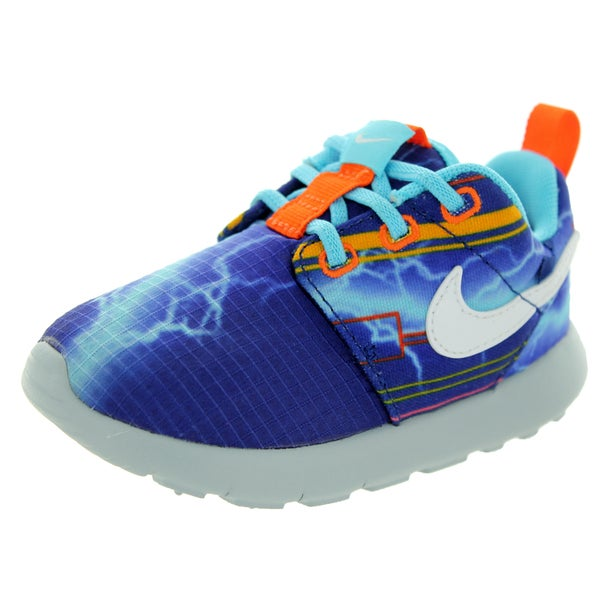Nike Toddler's Roshe One Print (T) Royal Blue/White/University Gold/El Running Shoe