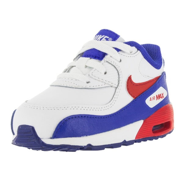 Nike Toddlers' Air Max 90 LTR TD White/University Red Running Shoes