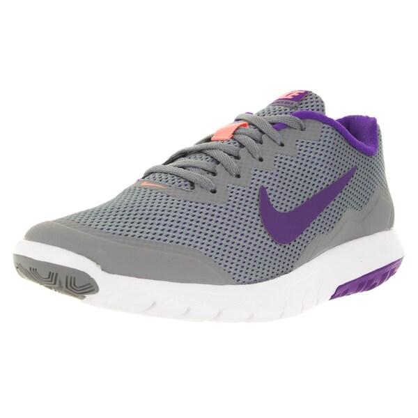 Nike Women's Flex Experience 4 Grey/Frc Purple/Atmc Pink/White Running Shoe