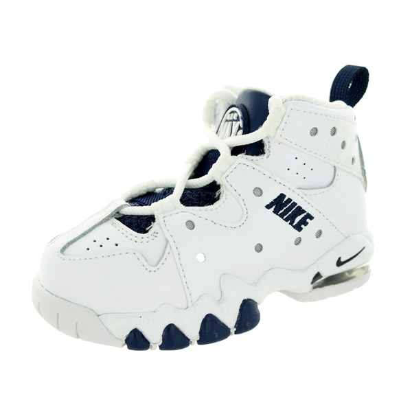 Nike Toddlers' Air Max Cb '94 White/Midnight Navy/Metallic Silver Basketball Shoe