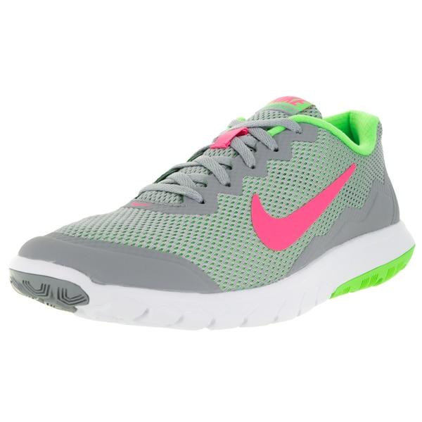 Nike Women's Flex Experience 4 Wolf Grey/Hyper Pink/ G/White Running Shoe