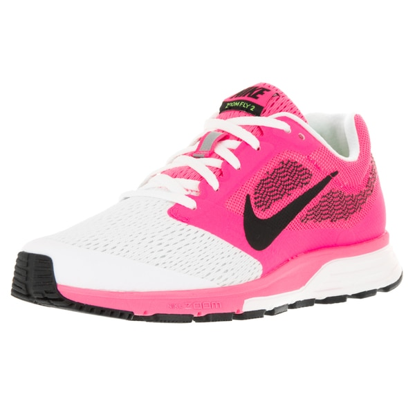 Nike Women's Air Zoom Fly 2 Pink Blast/Black/Elctrc G/White Running Shoe