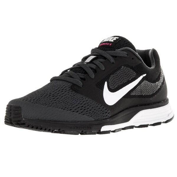 Nike Women's Air Zoom Fly 2 Black/White/Pink Blast/Anthracite Running Shoe
