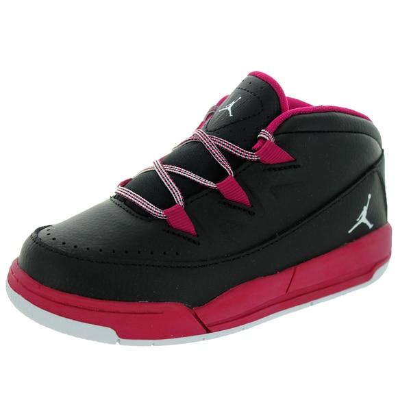 Nike Jordan Toddlers' Jordan Deluxe Gt Black/White/Sport Fuchsia Basketball Shoe