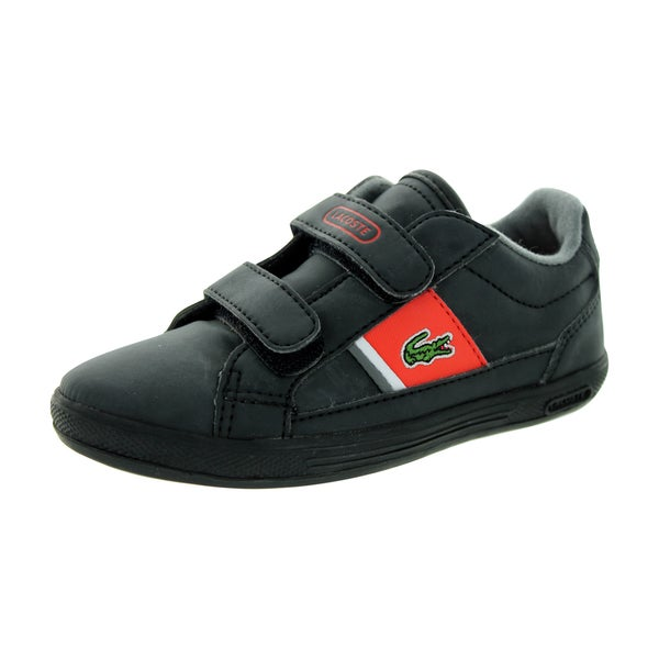 Lacoste Toddler's Europa S Spi Black/Red Casual Shoe