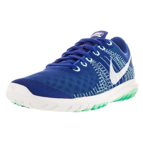 Nike Women's Flex Fury Game Royal/White/G Glow/Mint Running Shoe