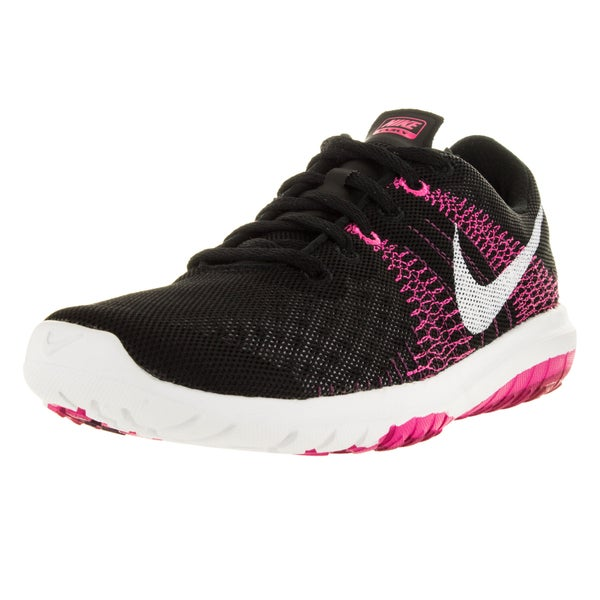 Nike Women's Flex Fury Black/White/Pink Foil/Sprt Fchs Running Shoe
