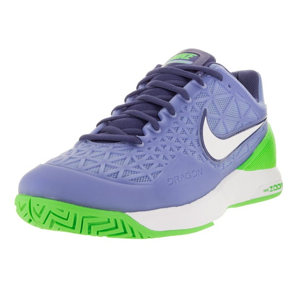 Nike Women's Zoom Cage 2 Chalk Blue/White/ G Purple Tennis Shoe