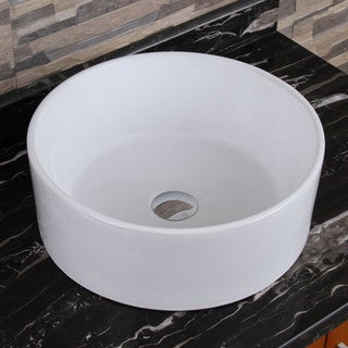 Elite Elimax 04 Round Shape White Porcelain Ceramic Bathroom Vessel Sink