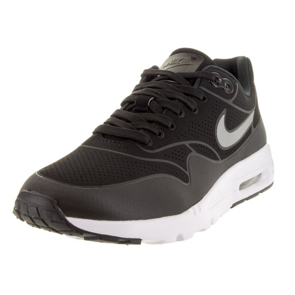 Nike Women's Air Max 1 Ultra Moire Black/Black/Metallic Silver/White Running Shoe