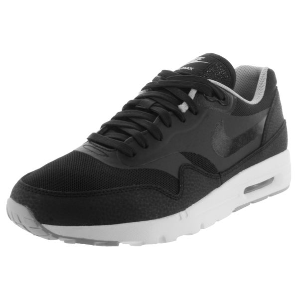 Nike Women's Air Max 1 Ultra Essentials Black/Black/Wlf /Metallic Silver Running Shoe