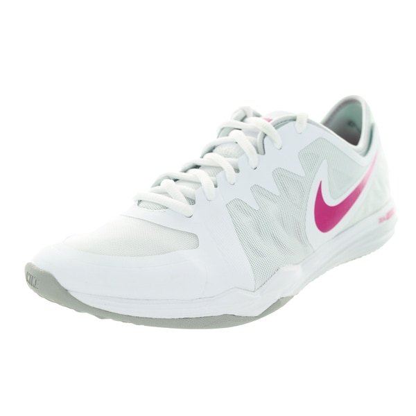 Nike Women's Dual Fusion Tr 3 White/Vvd Pink/Grey Training Shoe