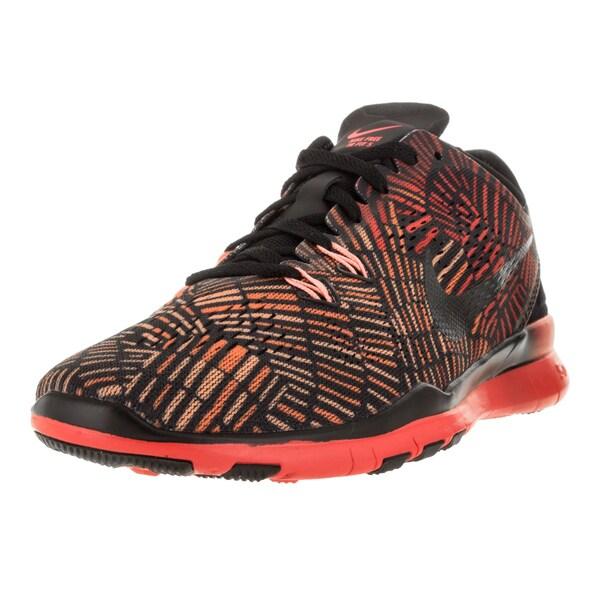 Nike Women's Free 5.0 Tr Fit 5 Prt Black/Black/Brgh/Atmc Pink Training Shoe