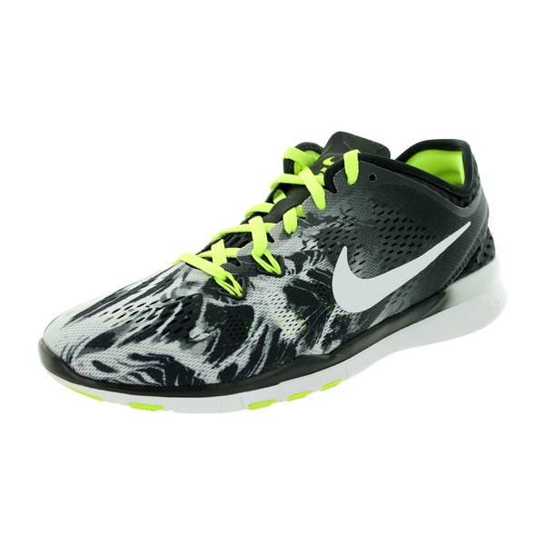 Nike Women's Free 5.0 Tr Fit 5 Prt Black/White/Volt Training Shoe