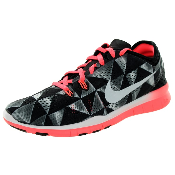 Nike Women's Free 5.0 Tr Fit 5 Prt Black/White/Lava Glow Training Shoe