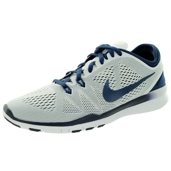 Nike Women's Free 5.0 Tr Fit 5 White/Midnight Navy Training Shoe
