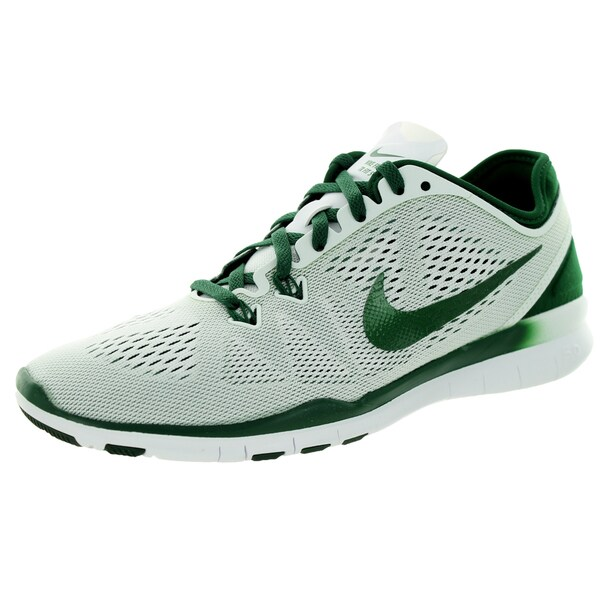 Nike Women's Free 5.0 Tr Fit 5 White/GOrangee Green Training Shoe