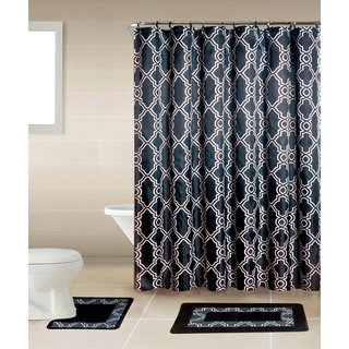 Home Dynamix Bath Boutique Shower Curtain and Bath Rug Set