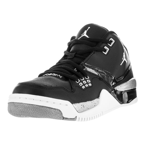 Nike Jordan Kid's Jordan Flight 23 Bg Black/White/Metallic Silver Basketball Shoe